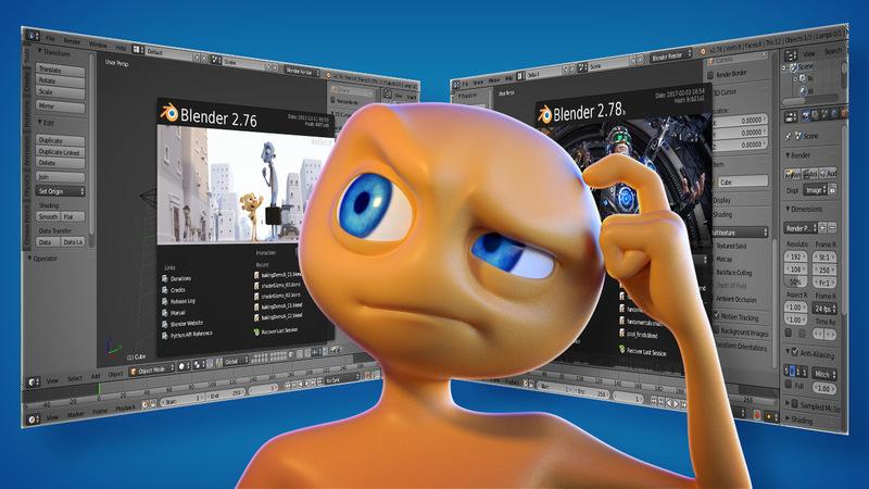 Learning 3D through various Blender versions