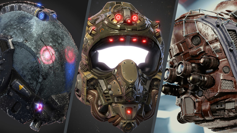 Sci-Fi Helmet Showcase