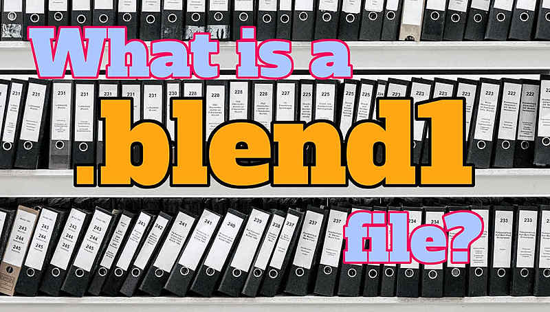 What is a .blend1 file and why do you (not) need them?