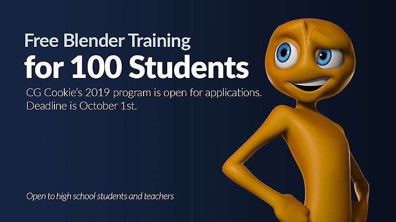 Blender 2.8 for Schools: CG Cookie's 100 Student Initiative