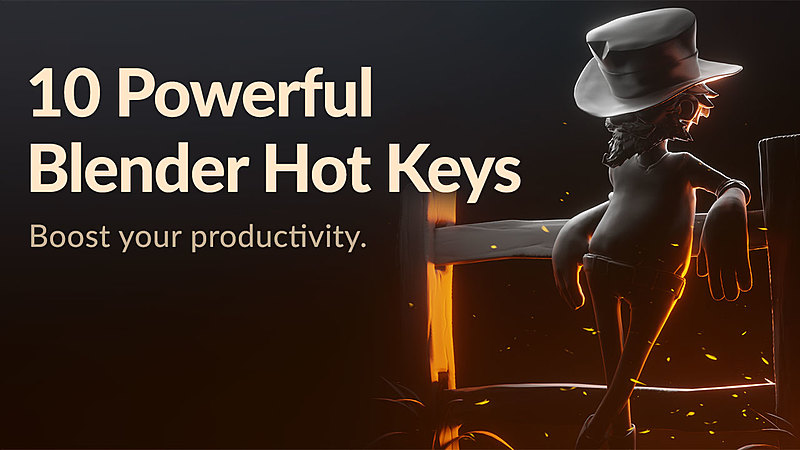 These are the 10 Best Blender Hotkeys to Make you More Productive