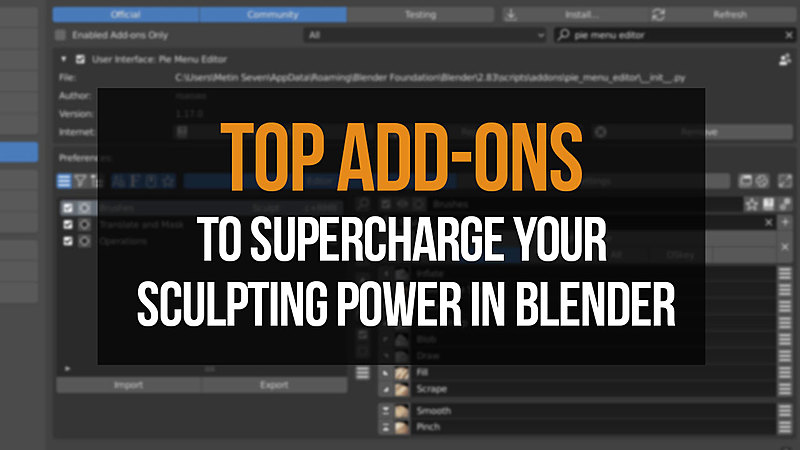 Blender add-ons to supercharge your sculpting power in Blender.