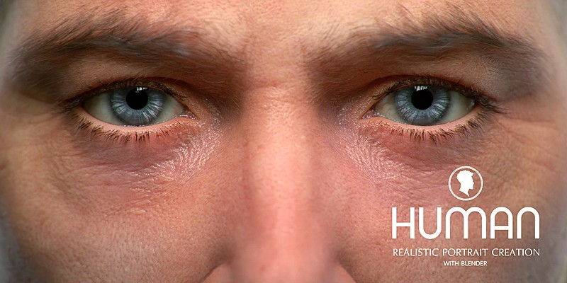 HUMAN: Realistic Portrait Creation with Blender is coming to Blender Market and CG Cookie