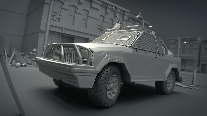 Modeling a Post Apocalyptic Vehicle
