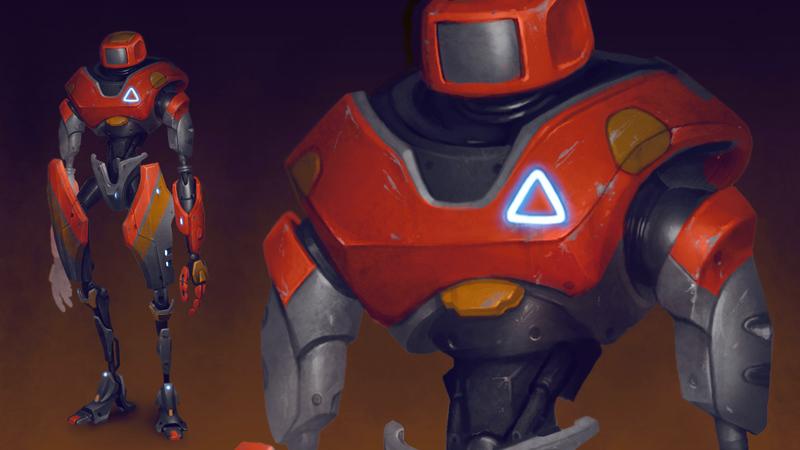 Building Robot Concept Art