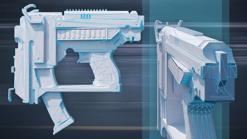 Modeling Weapons for a First Person Shooter