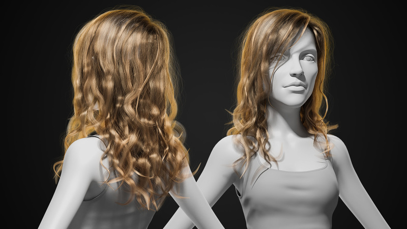 Styling and Shading Realistic Hair