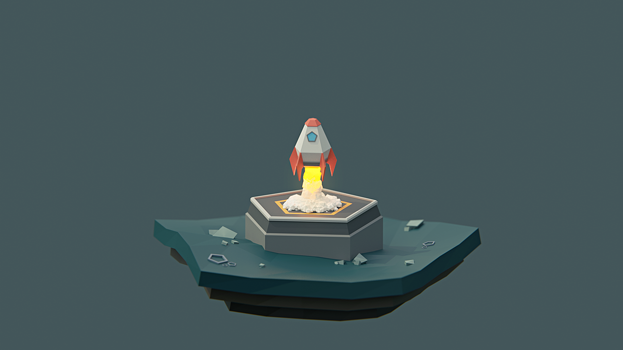 Build and Animate a Low Poly Rocket in Blender 2 8 for Beginners