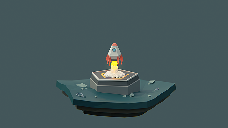 Build and Animate a Low Poly Rocket in Blender 2.8 for Beginners