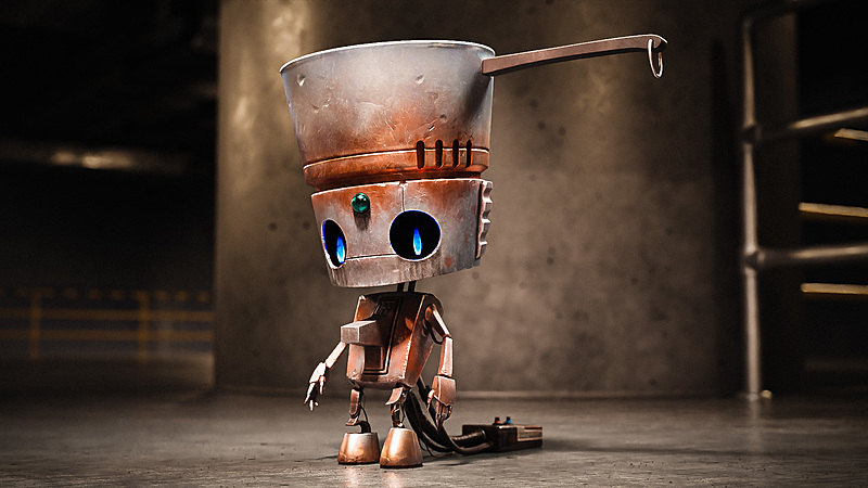 Pothead - Create a Hard Surface Character in Blender
