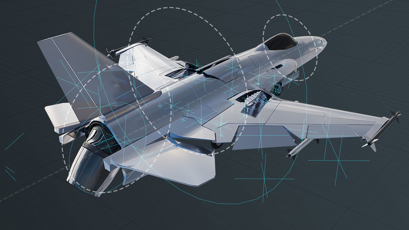Mechanical Rigging of a Fighter Jet in Blender