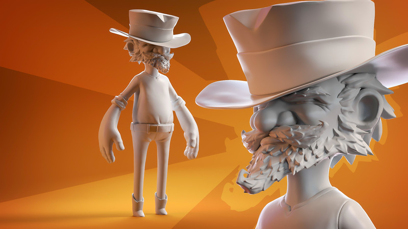 Sculpting the Wrangler Game Character
