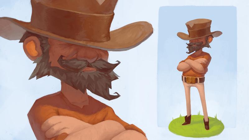 Wrangler Character Concept Art