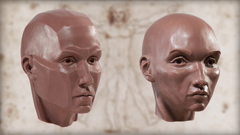 Sculpting the Human Head