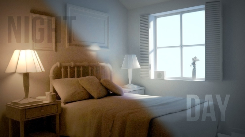 Lighting a Simple Bedroom