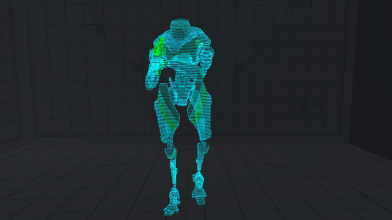 Flickering Hologram Shader
