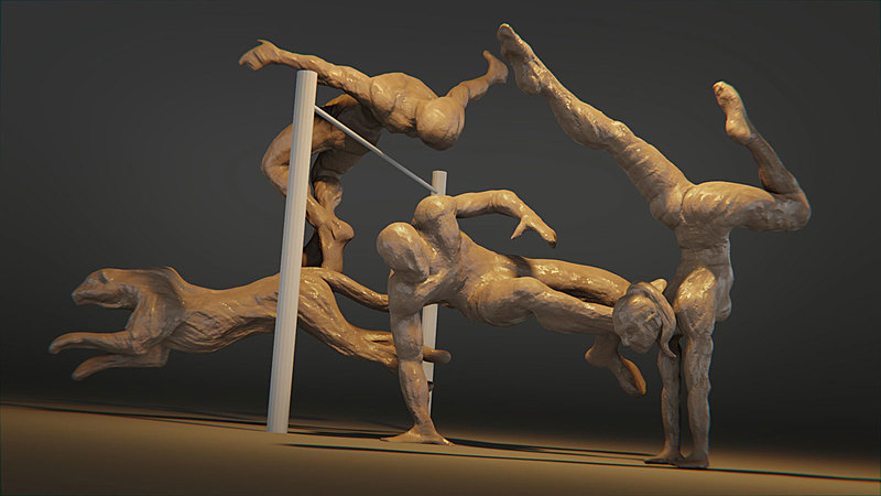 Gestural Sculpting with Blender