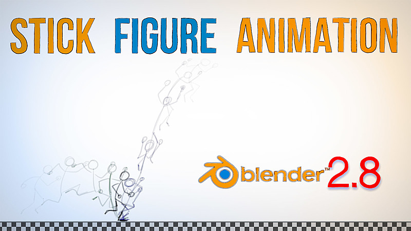 Animate a Stick Figure Jumping with Grease Pencil