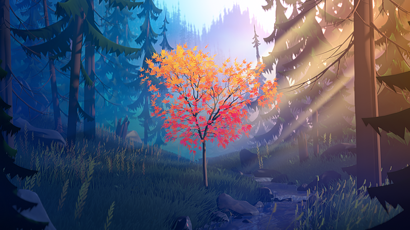Create a Unique Stylized Forest