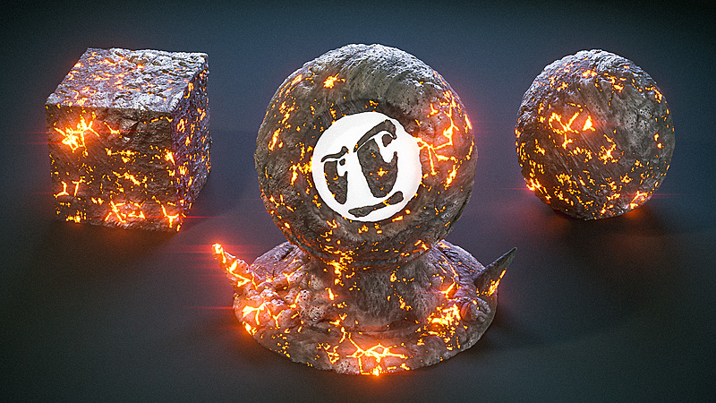 Create a Procedural Lava Shader