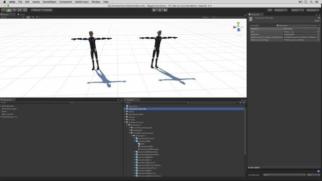 Using Animator Override Controllers