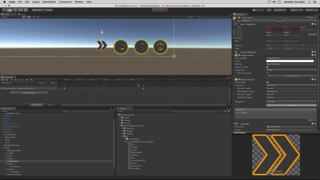 Animating Turret Buttons