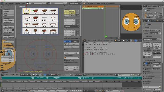 2D Lip Sync Animation (Basic)