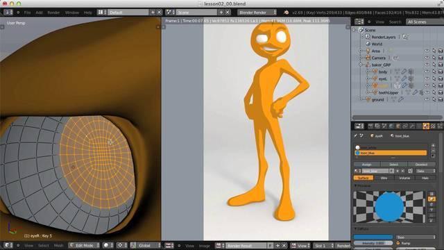 Rendering a Cartoon Character