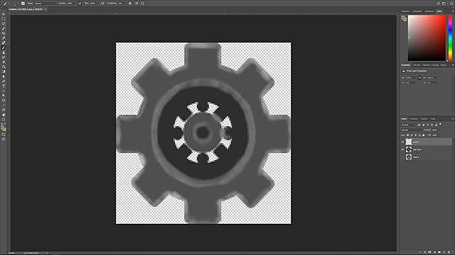Painting the Gears with Photoshop