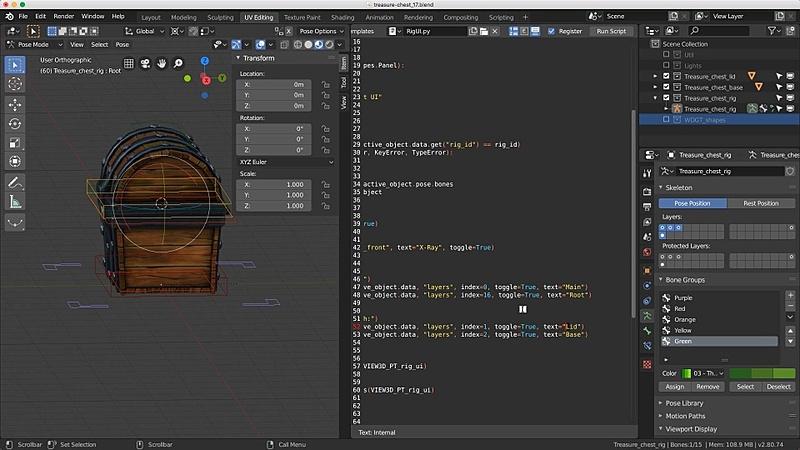 Adding the UI script