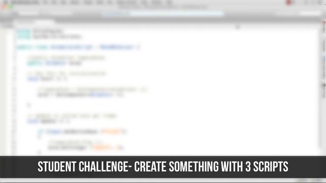Student Challenge: Create Custom Scripts