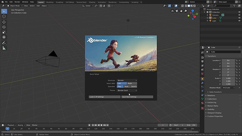 Introduction to Blender's interface