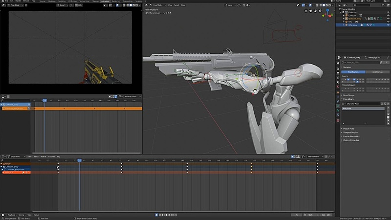 Animating the Robot's Idle Pose