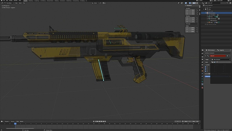 Blocking Out the Reload Animation pt. 1