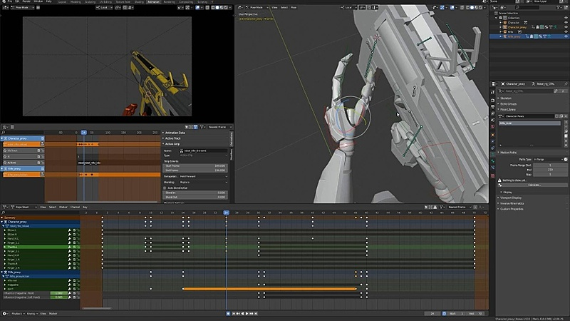 Blocking Out the Reload Animation pt. 2
