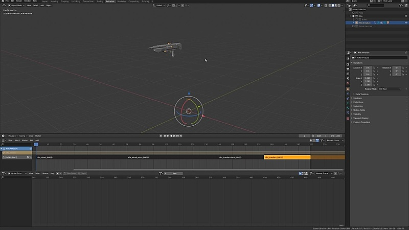 Baking and Exporting the Rifle Animations to Unity