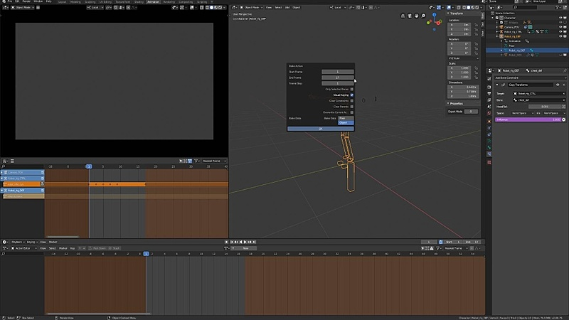 Baking and Exporting the Robot Animations to Unity