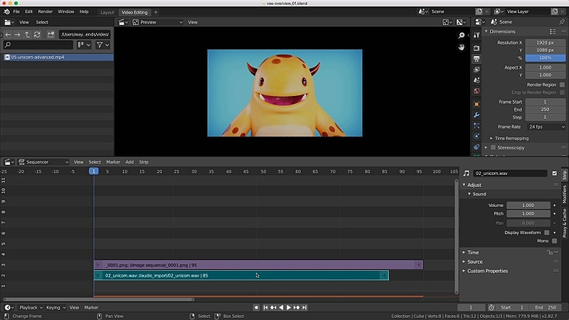 Video Sequence Editor Overview