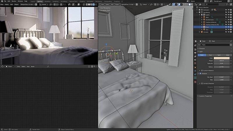 Lighting a Bedroom with Eevee