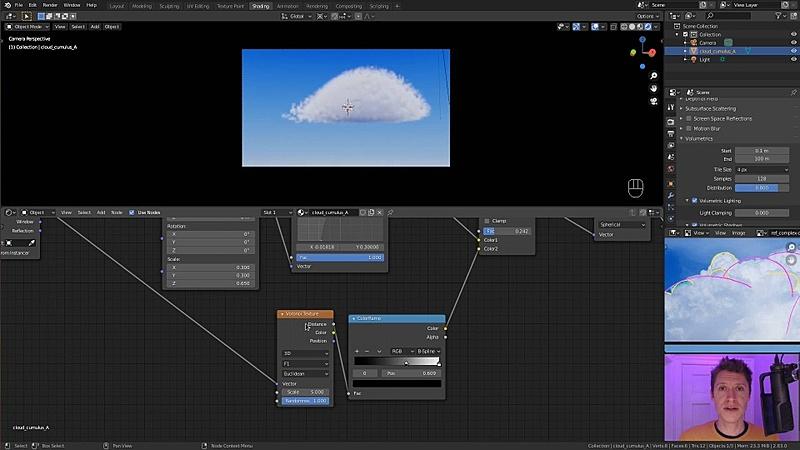 Complex Cumulus Clouds