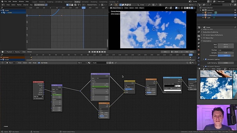 Animating a Looping Cloud Timelapse