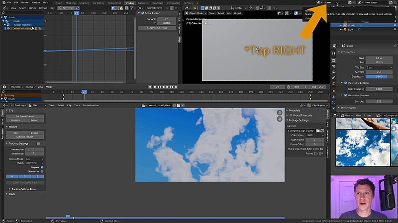 Animating a Cloud Fly-Through