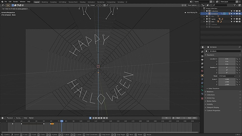 Let's rig and animate our spider