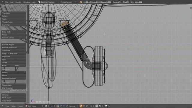 Modeling Wheel Struts