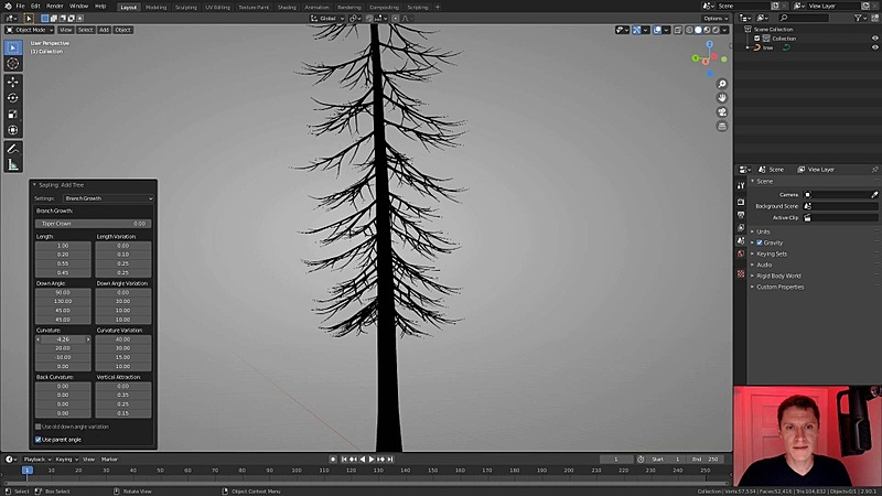 Modeling Trees with the Sapling Addon