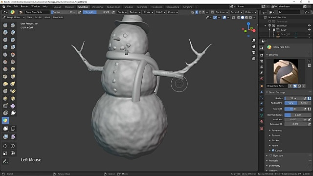 Snowman's scarf