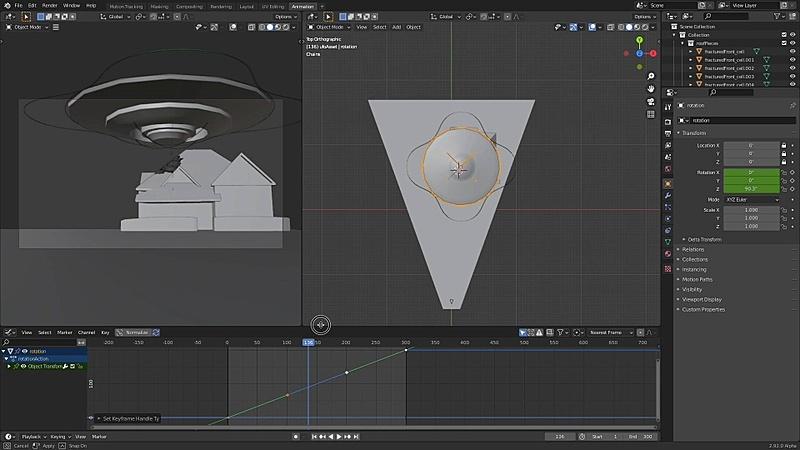 Animating the UFO