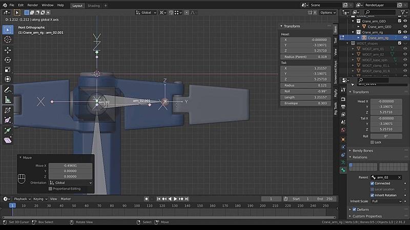 Rig a Crane Arm - Part 02