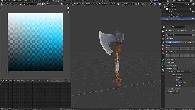 Prepping a Model for Texture Painting