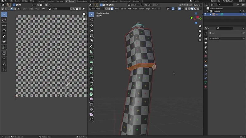 Unwrapping a Low Poly Ax